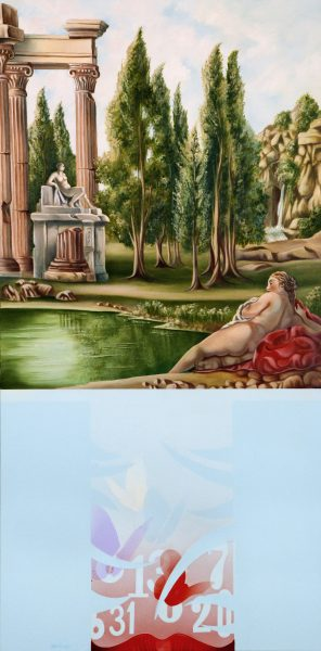 Diego Valentinuzzi, I SCANDAGLI DALLINCONSCIO, 100 x 50 cm, olio su tela