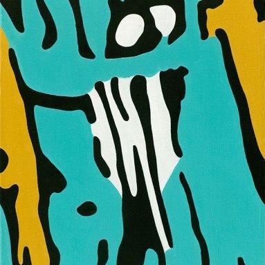 Daisy Gold, M-07, 40 x 50 cm, Acryl, Öl auf Leinwand, 2018