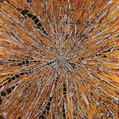 Daisy Gold, MEMORY, 195 x 195 cm, Öl auf Leinwand, 2014 - 2018